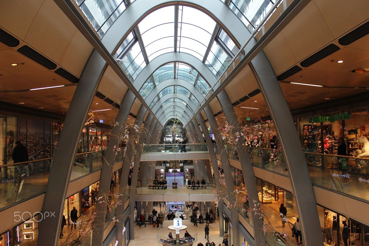 e8a76f4a1 The Europa Center is a shopping mall in Hamburg | skylights ...