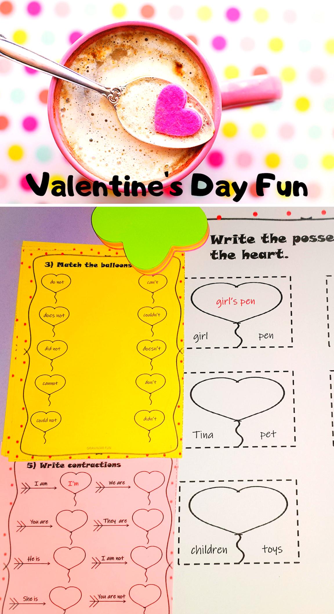 Valentine S Day No Prep Worksheets