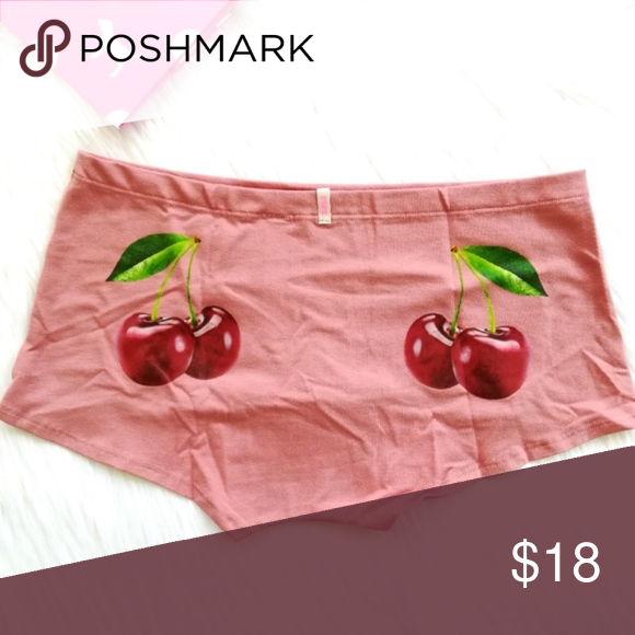 0be93f487d9f Victoria's Secret PINK Cherry Boyshorts Panties S VS PINK Cherries Boyshort  Panties Shorties Size Small Brand