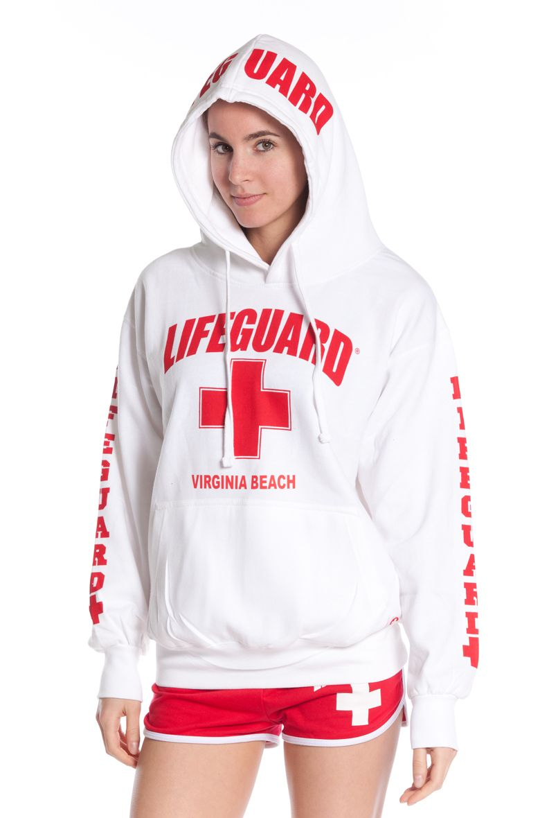e54a3904dee9c3 Beach Lifeguard - Girls White East Coast Lifeguard Hoodie