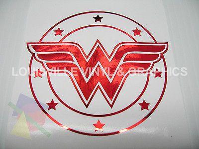 3 1 2 Red Chrome Wonder Woman Symbol Vinyl Decal Ebay Vinyl Decals Yeti Cup Designs Vinyl