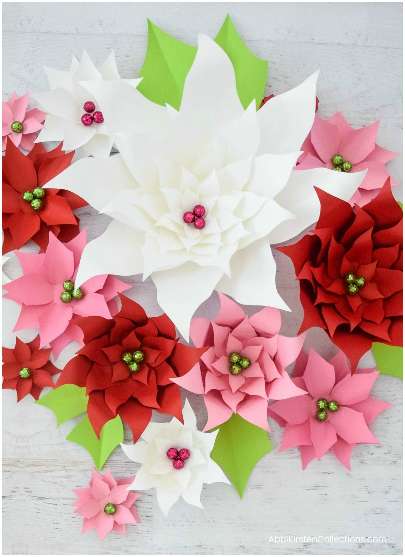 Poinsettia Flower Template Flower Template Paper Flowers Christmas Paper Crafts