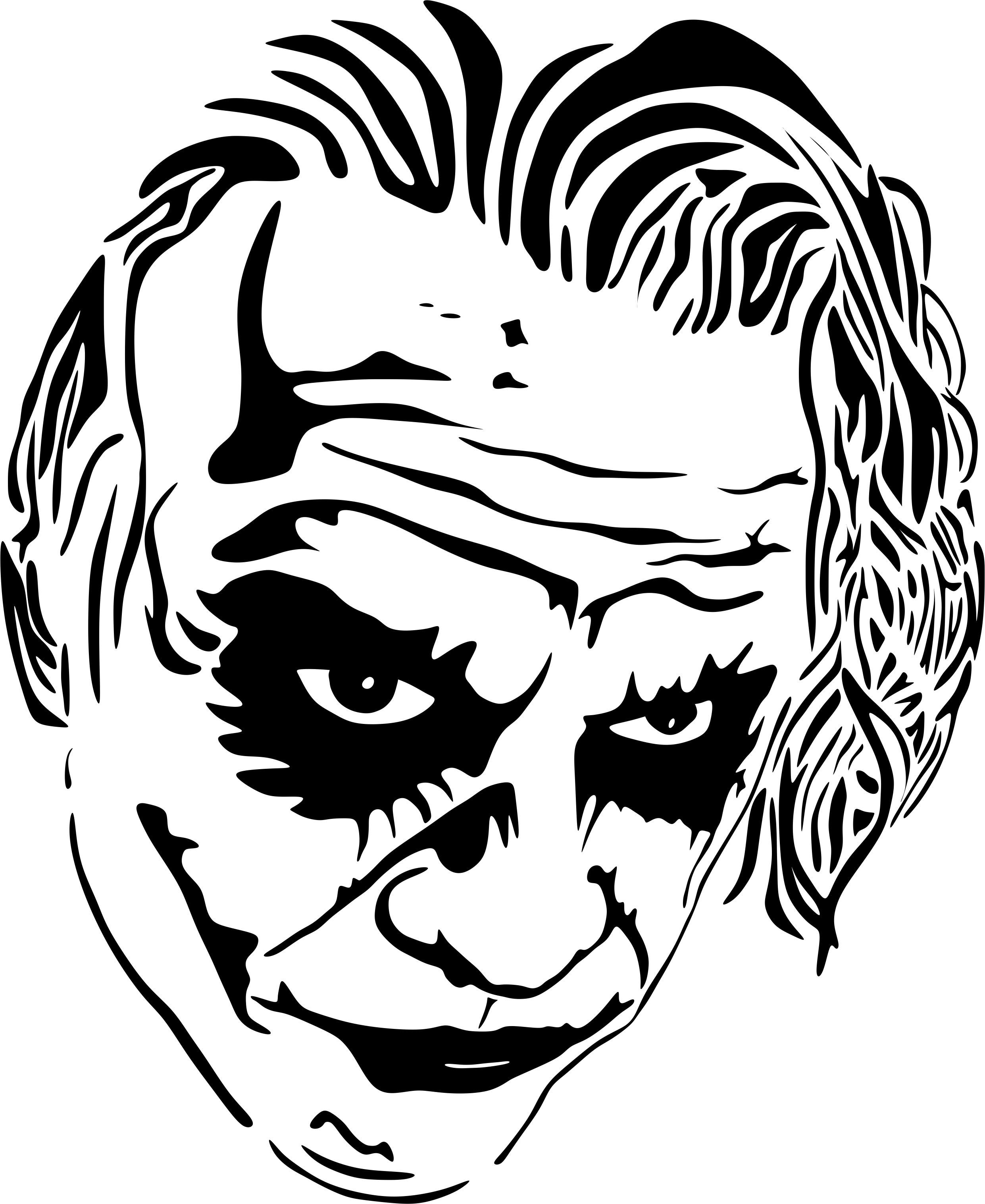 The Joker Line Art : Vector joker vectores pinterest stenciling