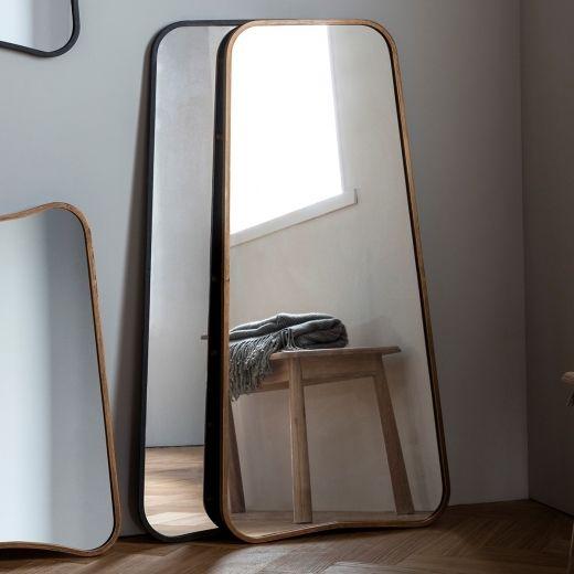 Full Length Leaner Mirror, Inca Contemporary Full Length Leaner Mirror Black