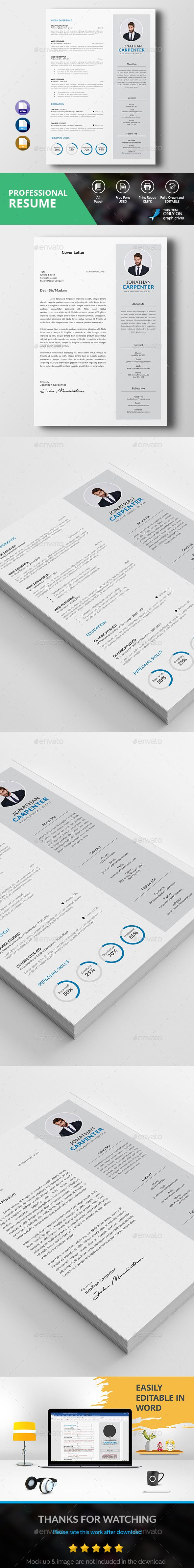 Professional Resume by DesignsTemplate This is Professional Resume ...