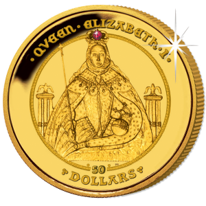 British Virgin Islands 2009 Coronation Of Queen Elizabeth I Proof Fine Gold With Ruby Gold And Silver Coins Gold Bullion Coins Gold Coins