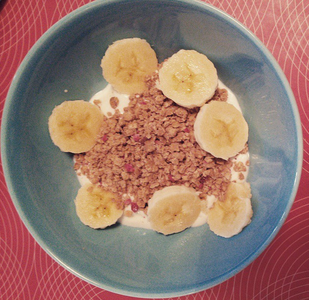 Yogurt, Granola and Banana