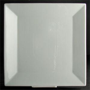 "8"" Kingsquare China Super White Square Plate 24 / CS"