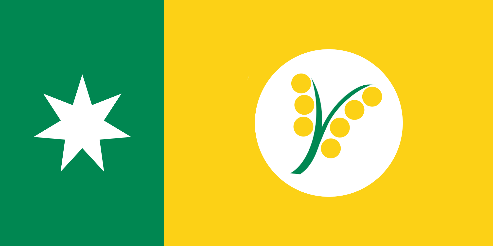 Australian flag proposal _ Australian Wattle Pale (2014)