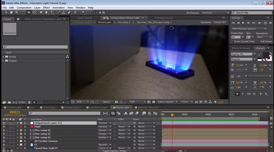 Learn how to create volumetric 3D Light Rays in After Effects with built-in plug  sc 1 st  Pinterest & Learn how to create volumetric 3D Light Rays in After Effects with ...
