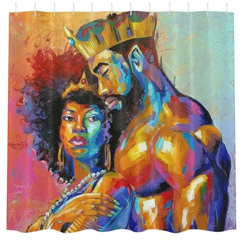 King Queen Shower Curtain With Images Girls Shower Curtain Bathroom Shower Curtains Shower Curtain Decor