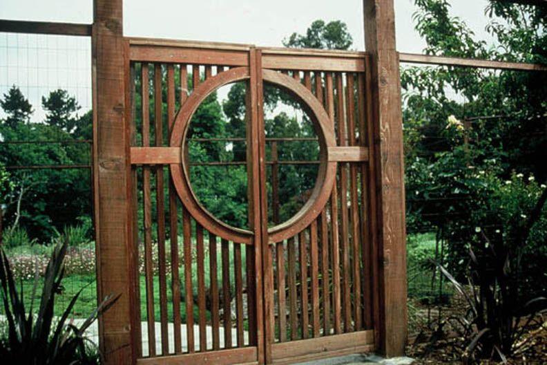 Garden Fences Deer Proof Entry Gate Open Look Deer