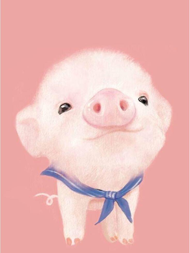 Cute Kawaii Animal Wallpapers Pin By Sasiwimol Jamjumrat On หมู In 2019 Pig Wallpaper