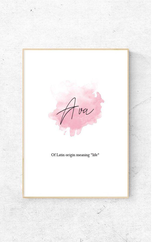 Ava - DIGITAL FILE - Nursery/Bedroom Watercolour Print ...