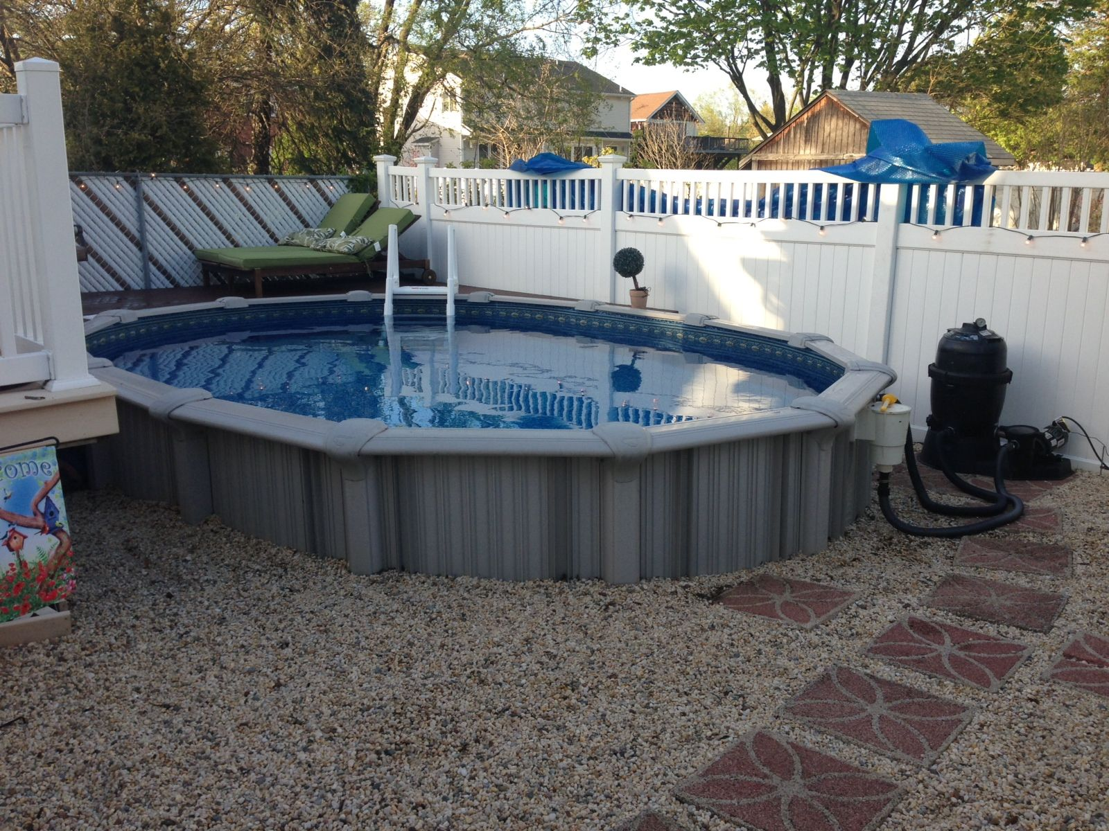 semi inground swimming pool designs | pool design & pool ideas