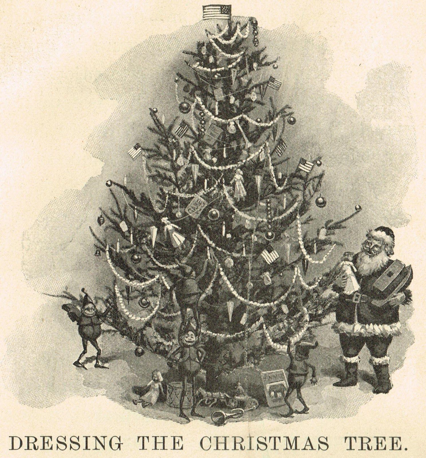 Antique Christmas Tree Printable Image
