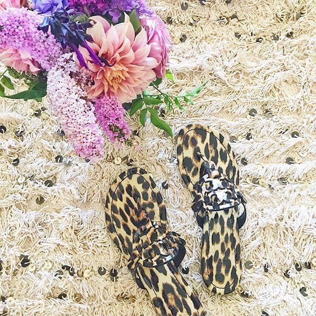 a0aeeb7f633 Leopard print Tory Burch Miller sandals