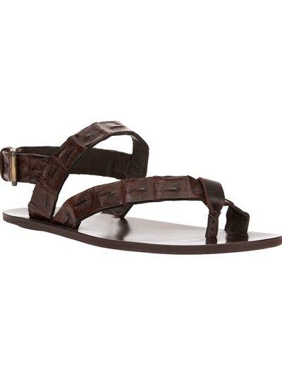 142aad79c8c8b1 DSQUARED2 Crocodile Effect Strap Sandal