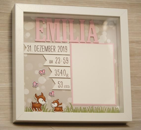 Personalized gift for birth in frame, baby frame, baptism gift, gift for birth, frame for birth