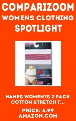 New release or price change: Womens Clothing product - Hanes Women's 2 Pack Cotton Stretch T... from Womens Clothing on comparizoom.com.  Comparizoom - the only place on the web to search Amazon, Walmart, Ovestock and eBay at the same time