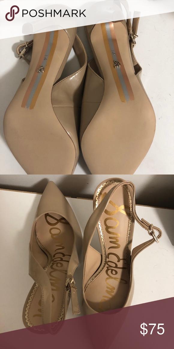 86072a10d26c NWT Sam Edelman Hasting Patent Nude Slingback Never worn patent nude pumps  Sam Edelman Shoes Heels