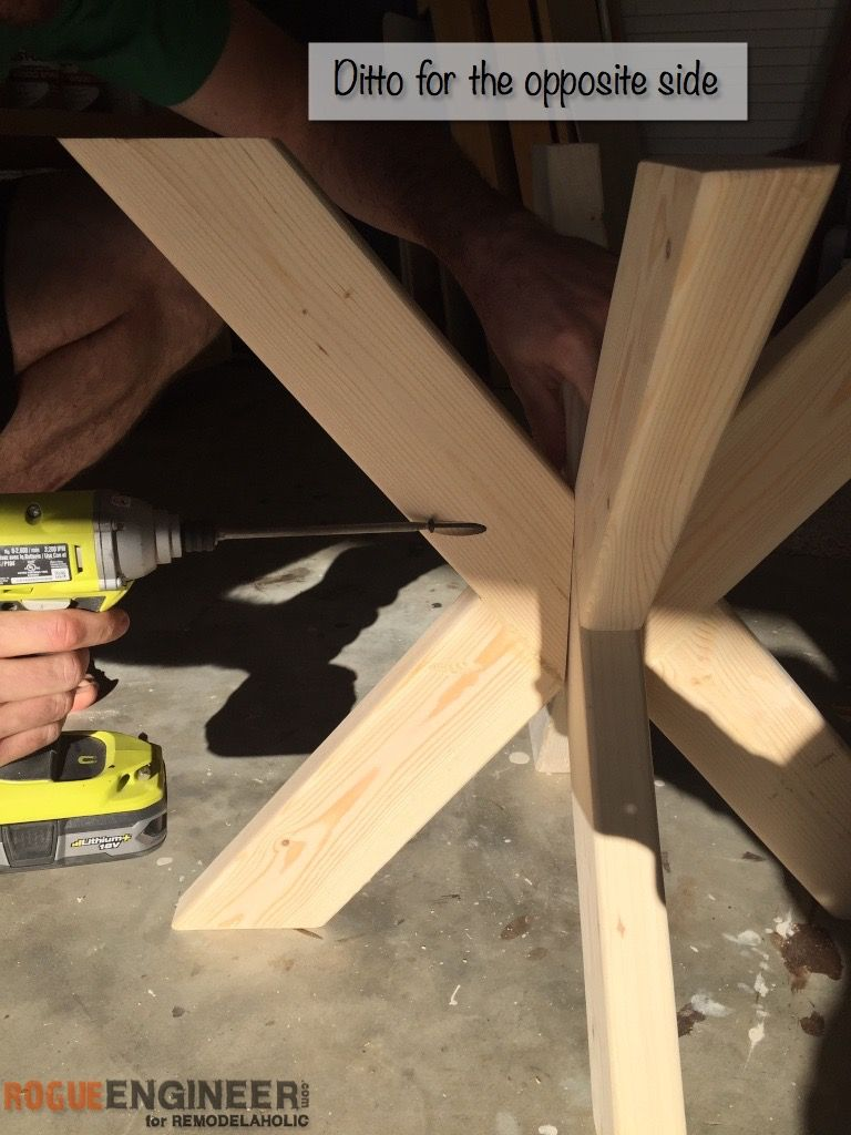 How to build a table base for a round table - Build It X Brace Concrete Side Table