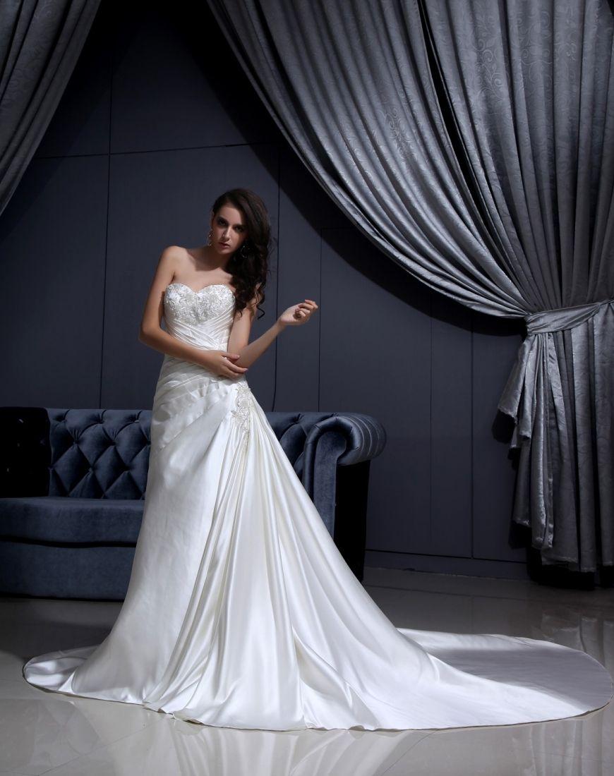 Lace Up Senza Spalline Vestiti Da Sposa Lungo in Ventita Online