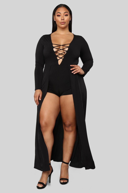 74c7a7187636 Plus Size Jumpsuit and romper. Take Me Away Maxi Romper - Black