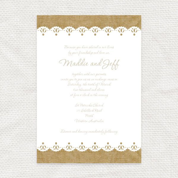 Set The Scene For A Stylish Rustic Wedding With Beautiful Burlap And Lace Printable DIY Stationery Pretty Ba