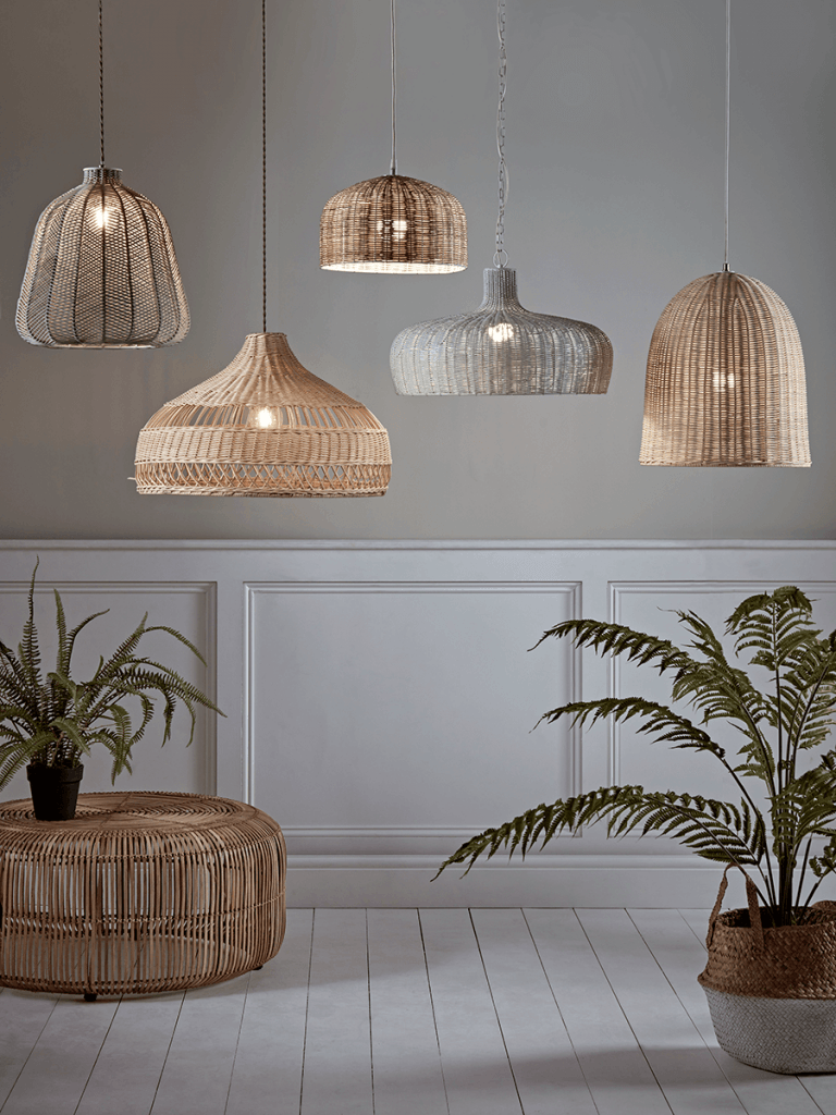 Rattan Dome Pendant Light Shade In 2020 Bedroom Ceiling Light