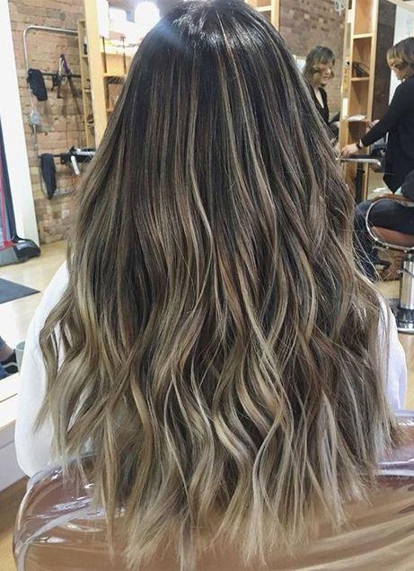 Hair Caramel Tips Brown