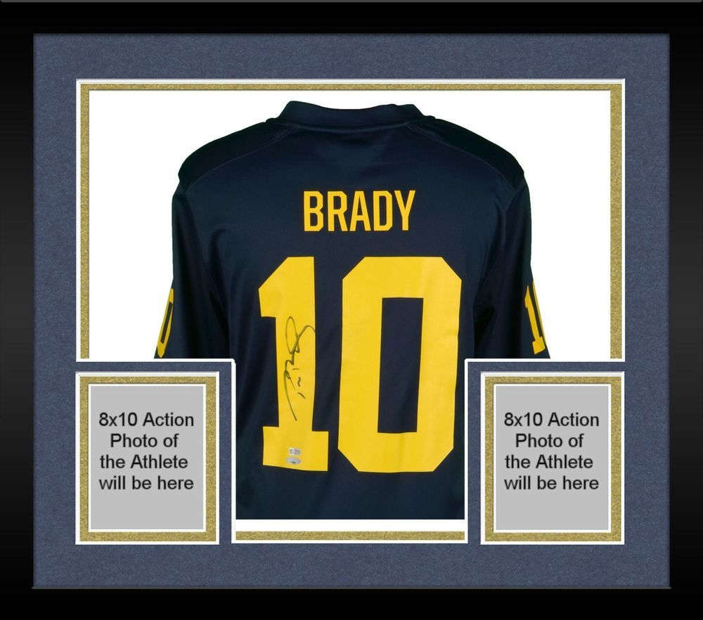 buy cheap de16d 23b16 Framed Tom Brady Michigan Wolverines Signed Jordan Replica ...