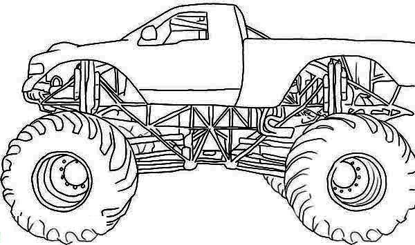 Monster Mutt Rottweiler Monster Truck Coloring Page Monster
