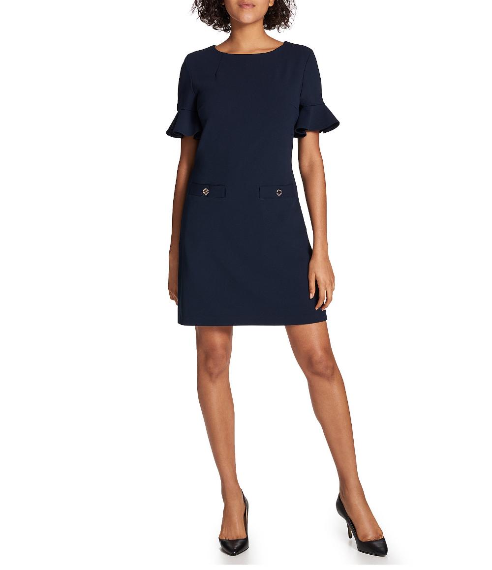 1901 Ponte Short Sleeve Shift Dress Nordstrom Short Sleeve Shift Dress Shift Dress Long Sleeve Cocktail Dress [ 1196 x 780 Pixel ]