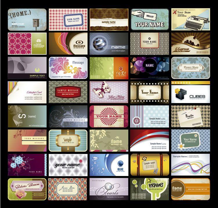 más de 100 plantillas gratis para diseño de tarjetas de visita