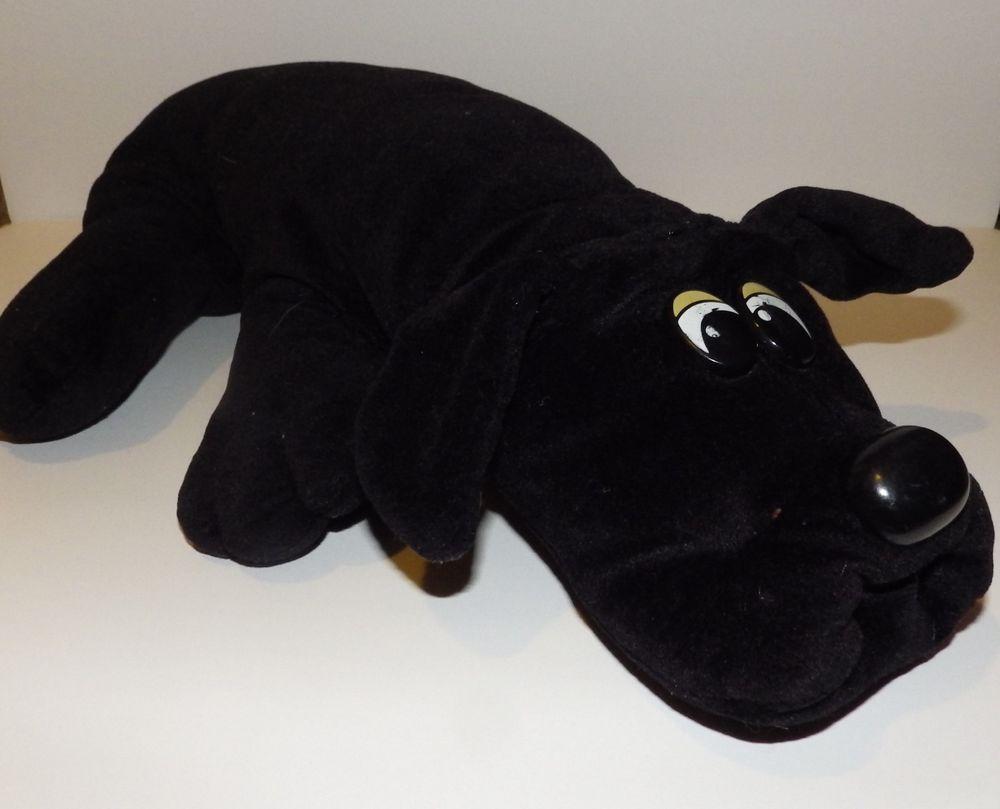 Vintage Black Pound Puppy Plush Stuffed Animal Dog Canine