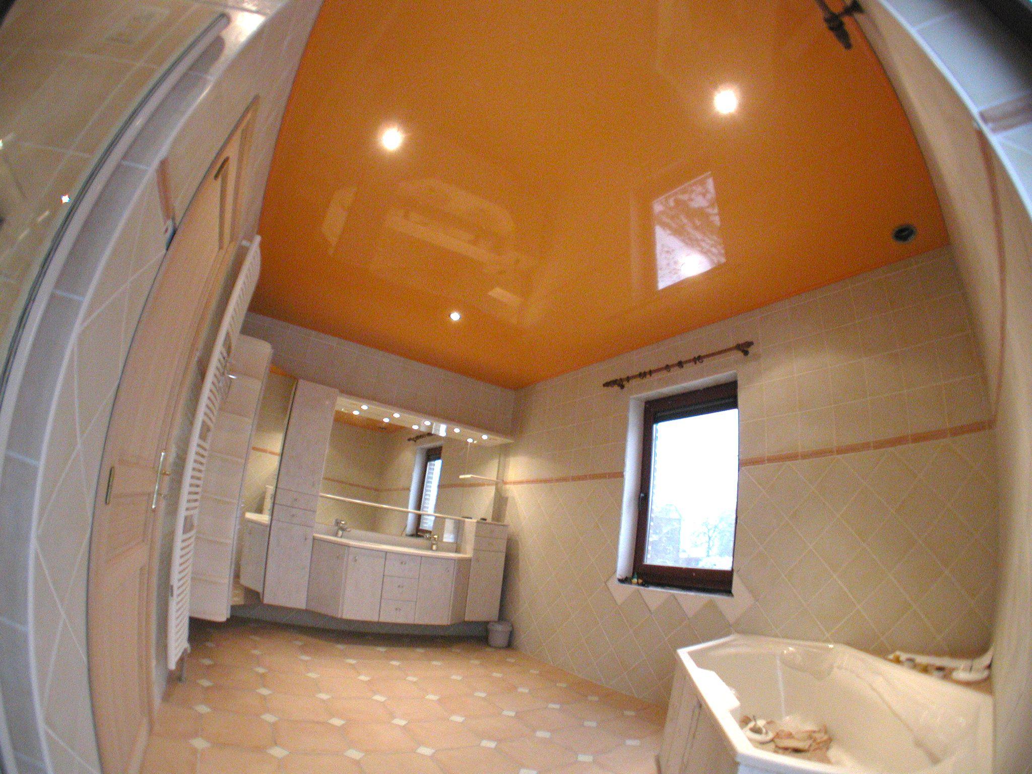 Stretch Ceiling- Plafond tendu dans une salle de bain - Spanplafond ...