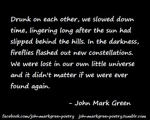 Drunk On Each Other Romantic Love Poetry By John Mark Green
