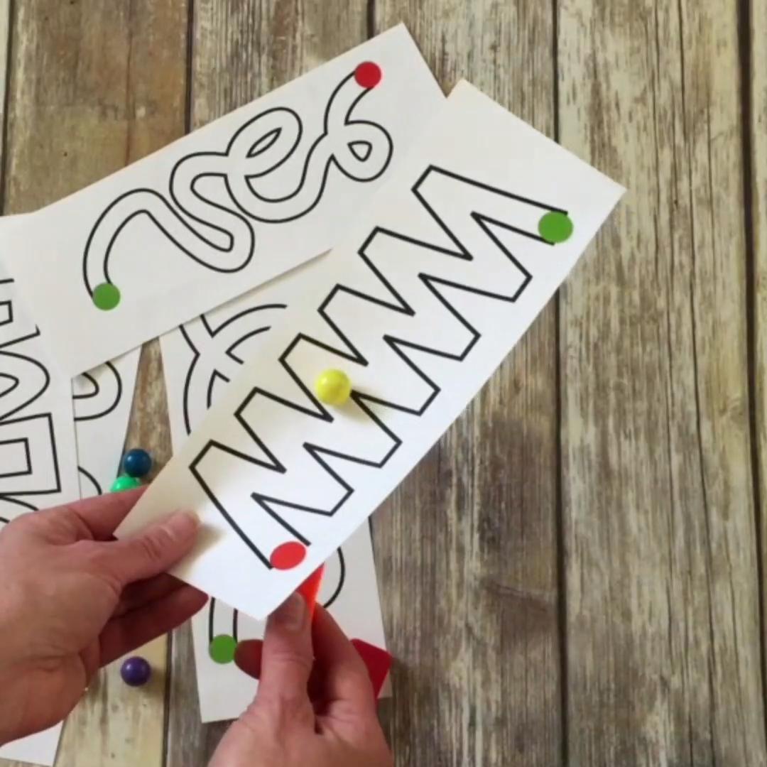 Fun magnet marble mazes for kids! #magnets #maze #kidsactivities #funforkids