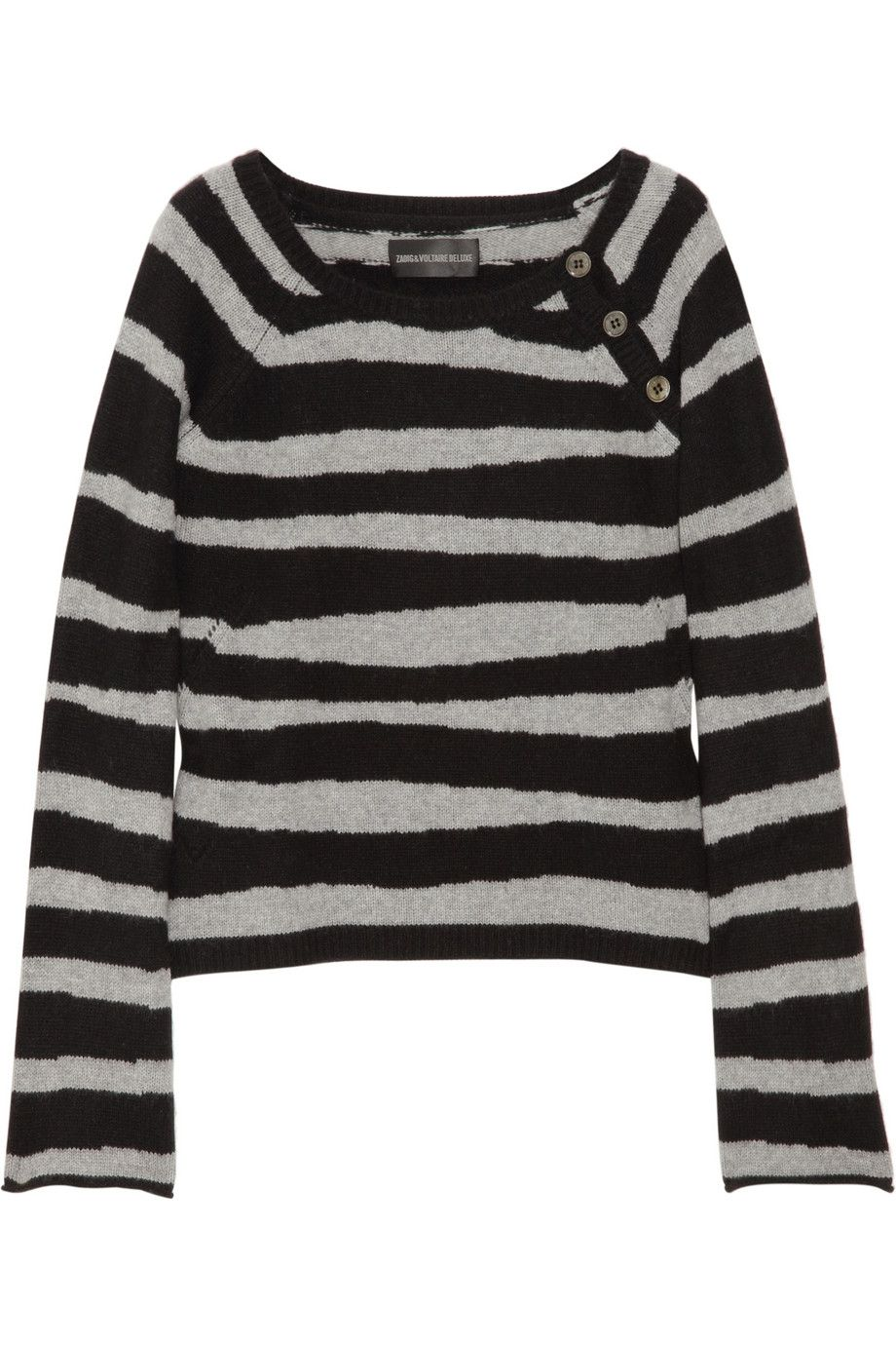 Zadig & Voltaire Reglis striped cashmere sweater - 30% Off Now at ...