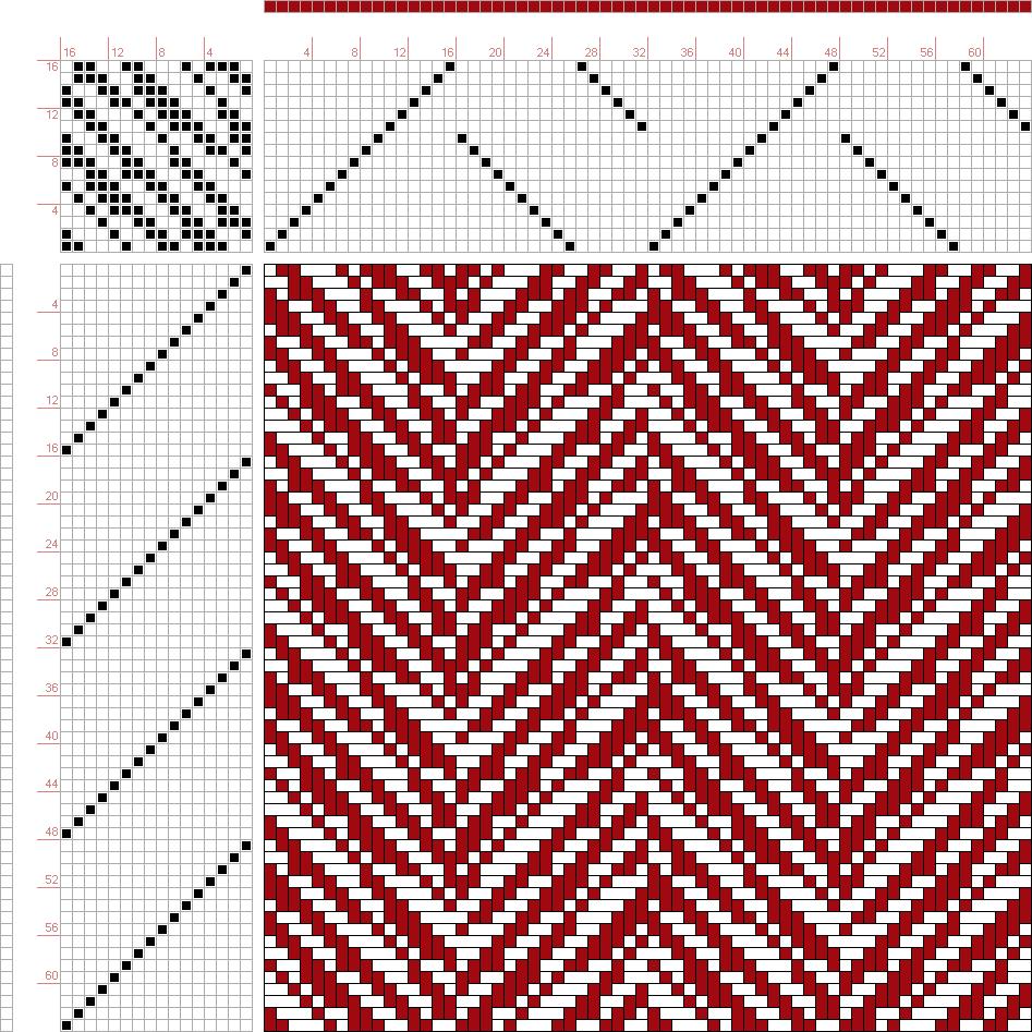 draft image: 28051, 2500 Armature - Intreccio Per Tessuti Di Lana, Cotone, Rayon, Seta - Eugenio Poma, 16S, 16T