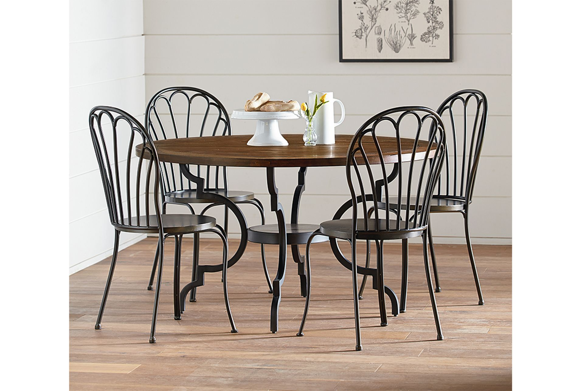 Magnolia Home Breakfast Round Black Dining Table By Joanna ... on
