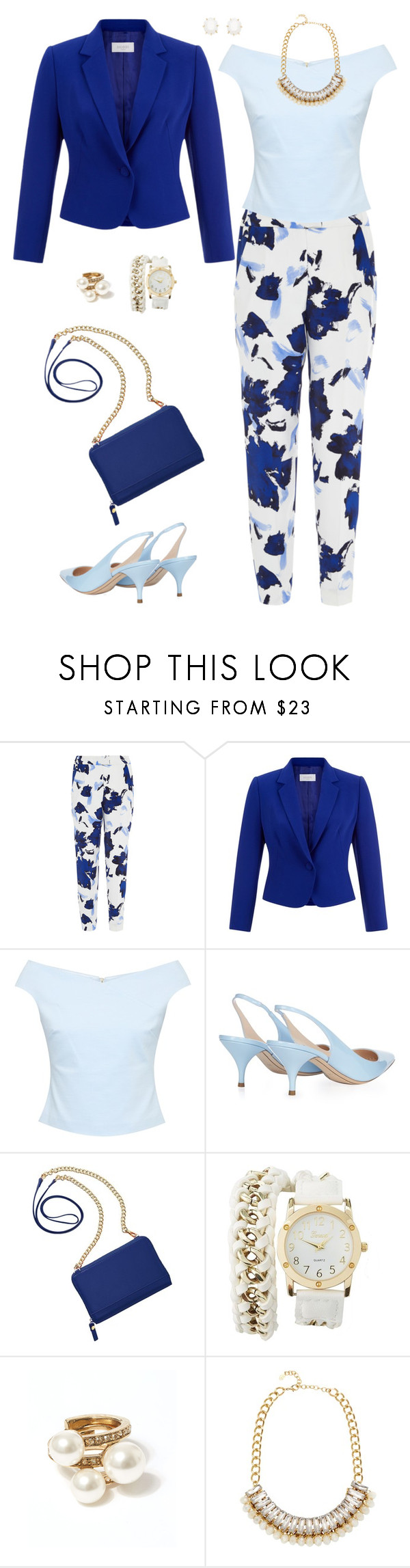 """Untitled #1527"" by ruru833 ❤ liked on Polyvore featuring Oscar de la Renta, Hobbs, Ted Baker, Nina Ricci, TravelSmith, Charlotte Russe, Adele Marie and Kendra Scott"