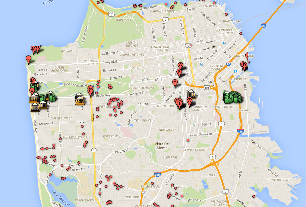 Pokemon Go San Francisco Map 17 Really Helpful San Francisco Pokémon Go Tips (With images