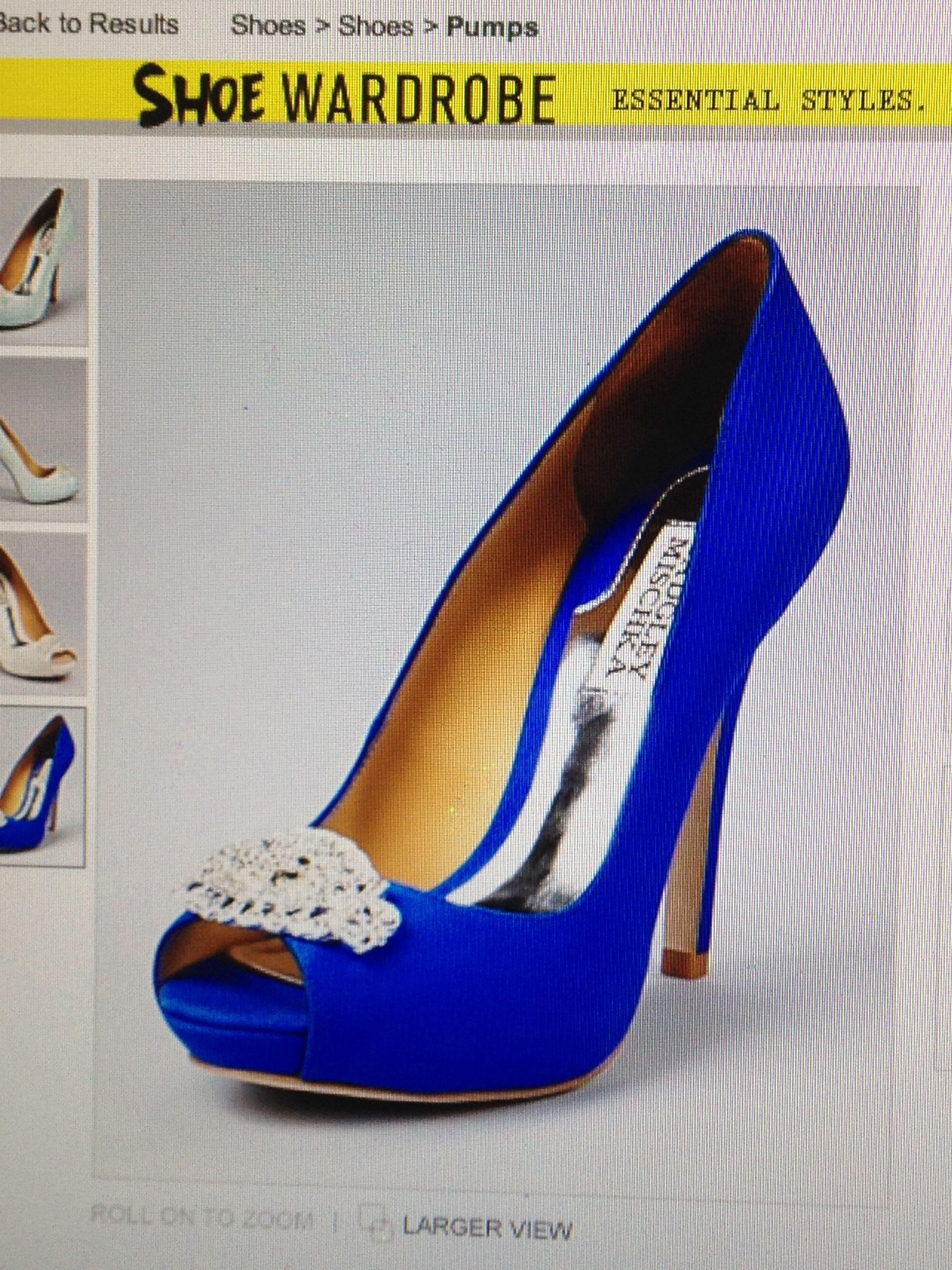 royal blue badgley mischka wedding shoes great way to