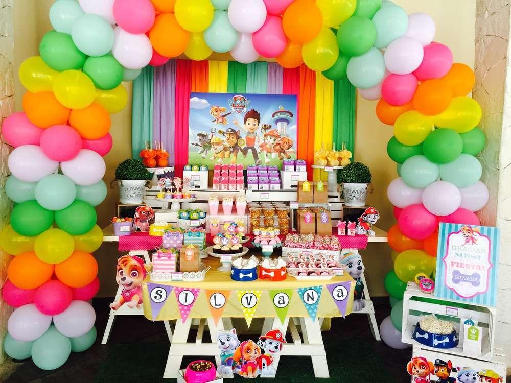 Decoraciones para fiestas de paw patrol cryptorich for Decoracion fiesta infantil nina
