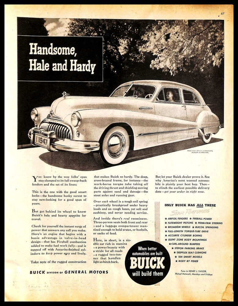 General Motors 1950 Car Print Ads Classic Cars American