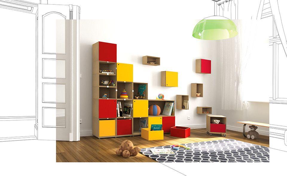 stocubo I modaleres Regalsystem fürs Kinderzimmer aus