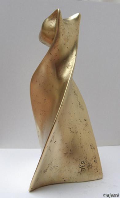 Top sculpture ; chat; bronze; flore de valicourt   sculpture chat  MP07