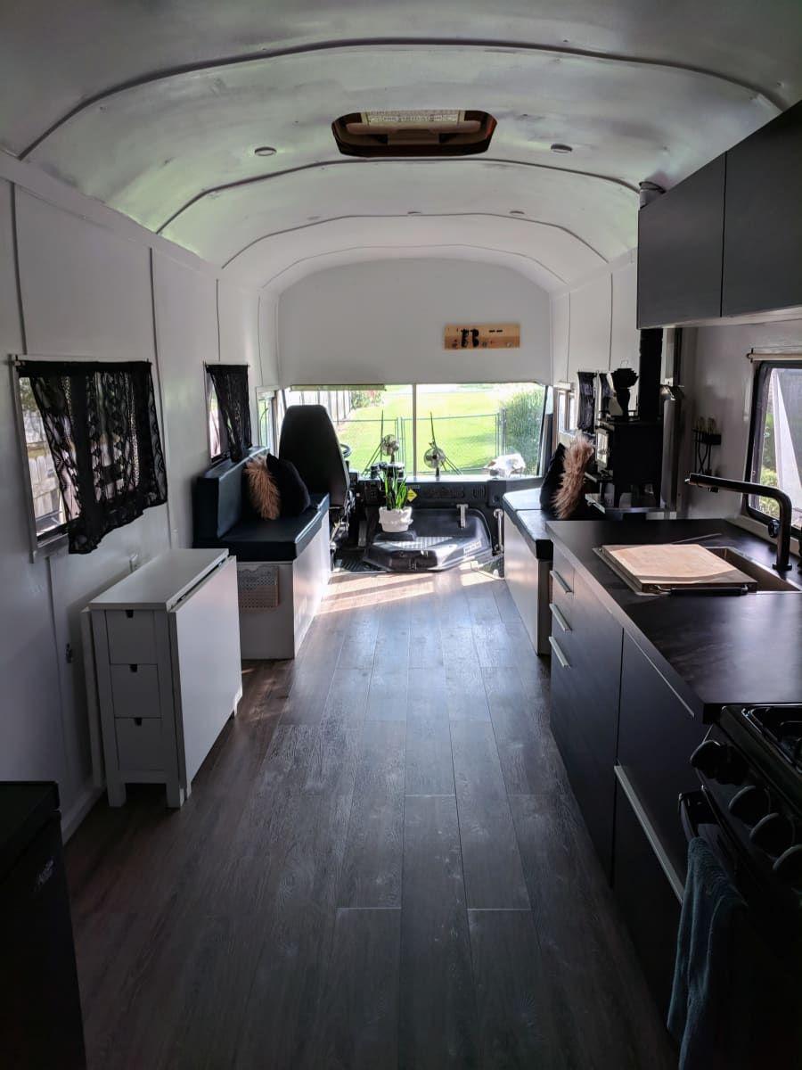 Bus Conversion Skoolie - 800W Solar - Converted Bus for Sale